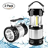 Beynoe LED Camping Lantern,Ultra Bright Collapsible Portable Lantern Light,Operated Camping Lanterns with Hanging Hook - Best Indoor Outages,Outdoor Hiking,Hurricanes,Storms And Emergency(2 Pack)