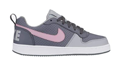 hot sale online c670d b1681 Nike Court Borough Low (GS) Chaussures de Basketball Femme, Multicolore  (Cool Grey
