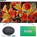 Sony XBR65X850F 65-Inch 4K Ultra HD Smart LED TV (2018 Model) with Google Home Mini (Charcoal) + Hulu $25 Gift Card