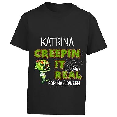 amazoncom katrina creepin it real funny halloween costume gift boy boys t shirt clothing