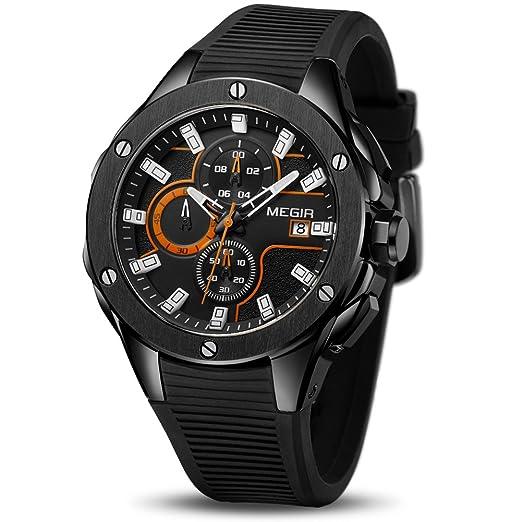 a8a2d90123b6 Megir - Reloj de pulsera para hombre