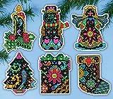 Design Works Plastic Canvas Kit ~ Christmas Fantasy Ornaments Set of 6
