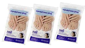 Graham HandsDown Ultra Nail Pad and Cosmatic Lint Free Nail Wipes for Gel Nails & Nail