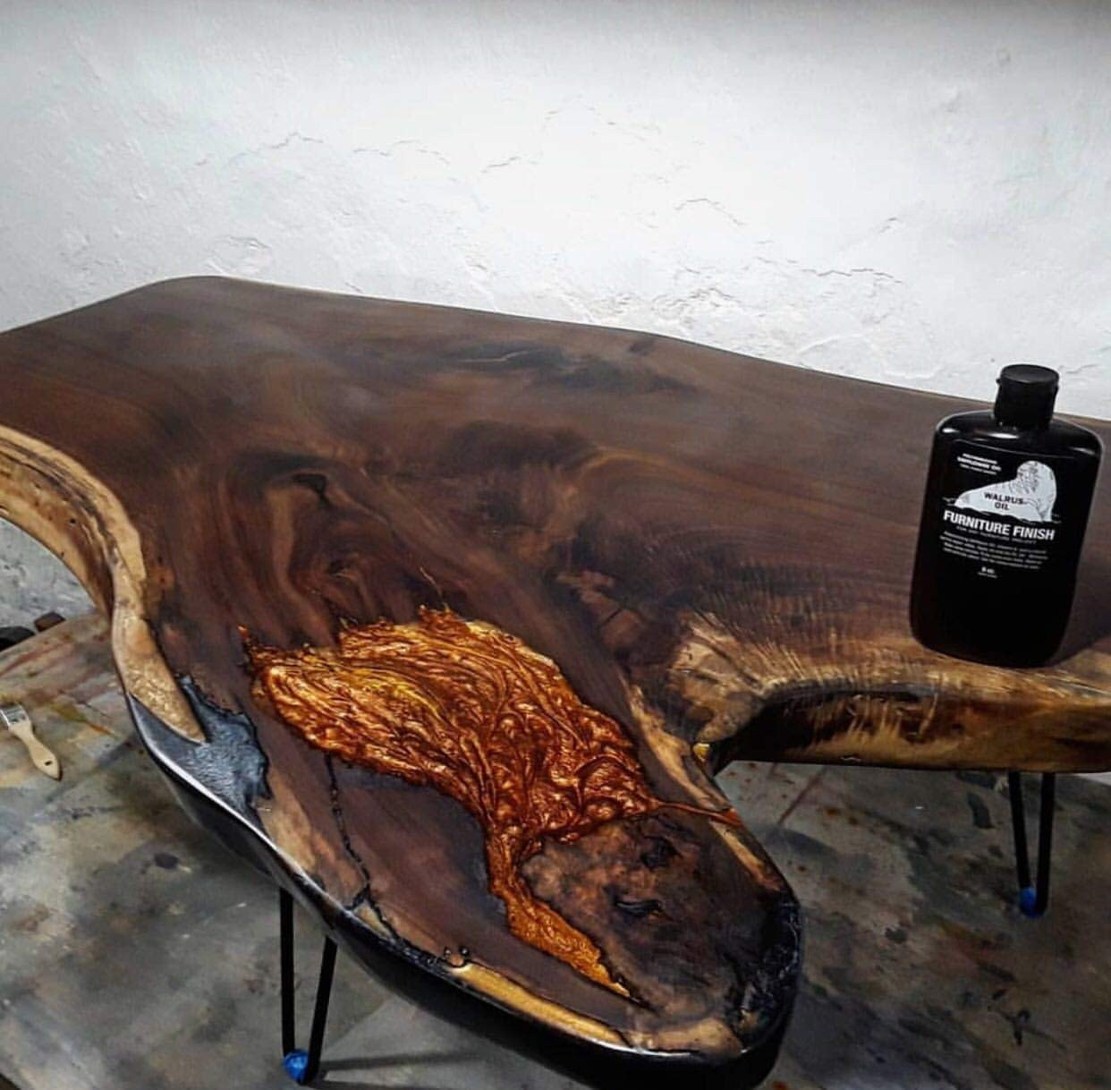 WALRUS OIL - Furniture Finish, Polymerizing Safflower Oil and Hemp Seed Oil - for Hardwood Tables, Chairs, and More. 100% Vegan, 32oz Jug by Walrus Oil (Image #3)