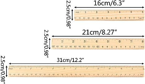 strumento di disegno 20 cm 6inch Righello in legno double face A0127 cancelleria per studenti 15cm 15 cm 1 pezzo 30 cm bois couleur