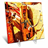 3dRose Alexis Photography - Objects - Golden age technologies - Vintage wringer. Stylized photo - 6x6 Desk Clock (dc_270868_1)