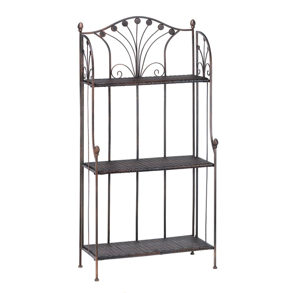 Amazon.com: French Market Home Kitchen Bar Bakers Rack Shelf Stand ...