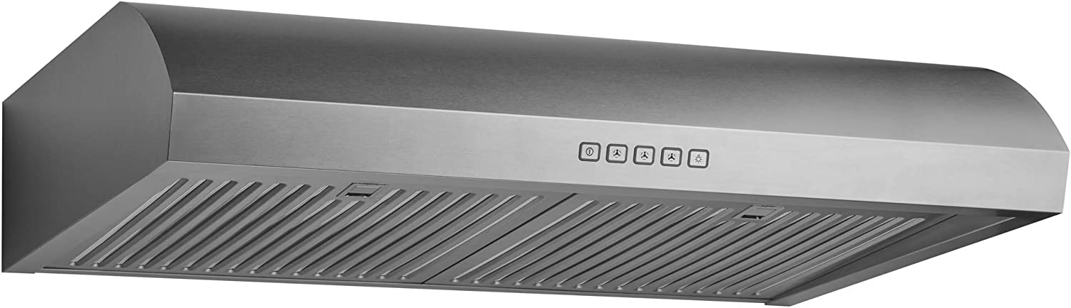 Perfect for Ductless Kitchen Chef Series 30 B018 Convertible Under Cabinet Range Hood Minimalist Design with 3-Way Venting Aluminum Filters LED Lamps Hauslane 250 CFM