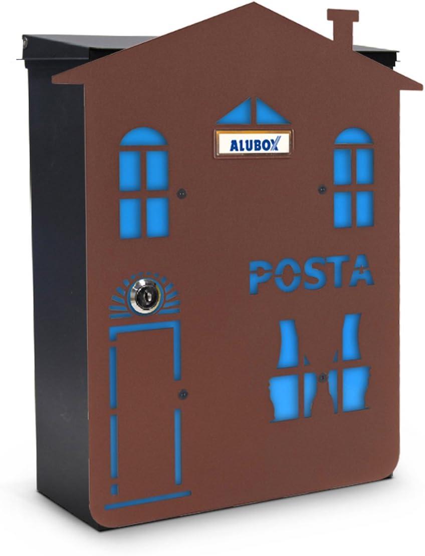 multicolor Alubox Mia Casa 1/Buz/ón con puerta