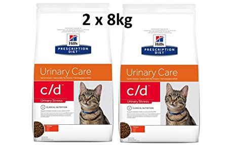 Hill s prescr iption Diet Feline C/D urinary estrés: 2 x 8 ...