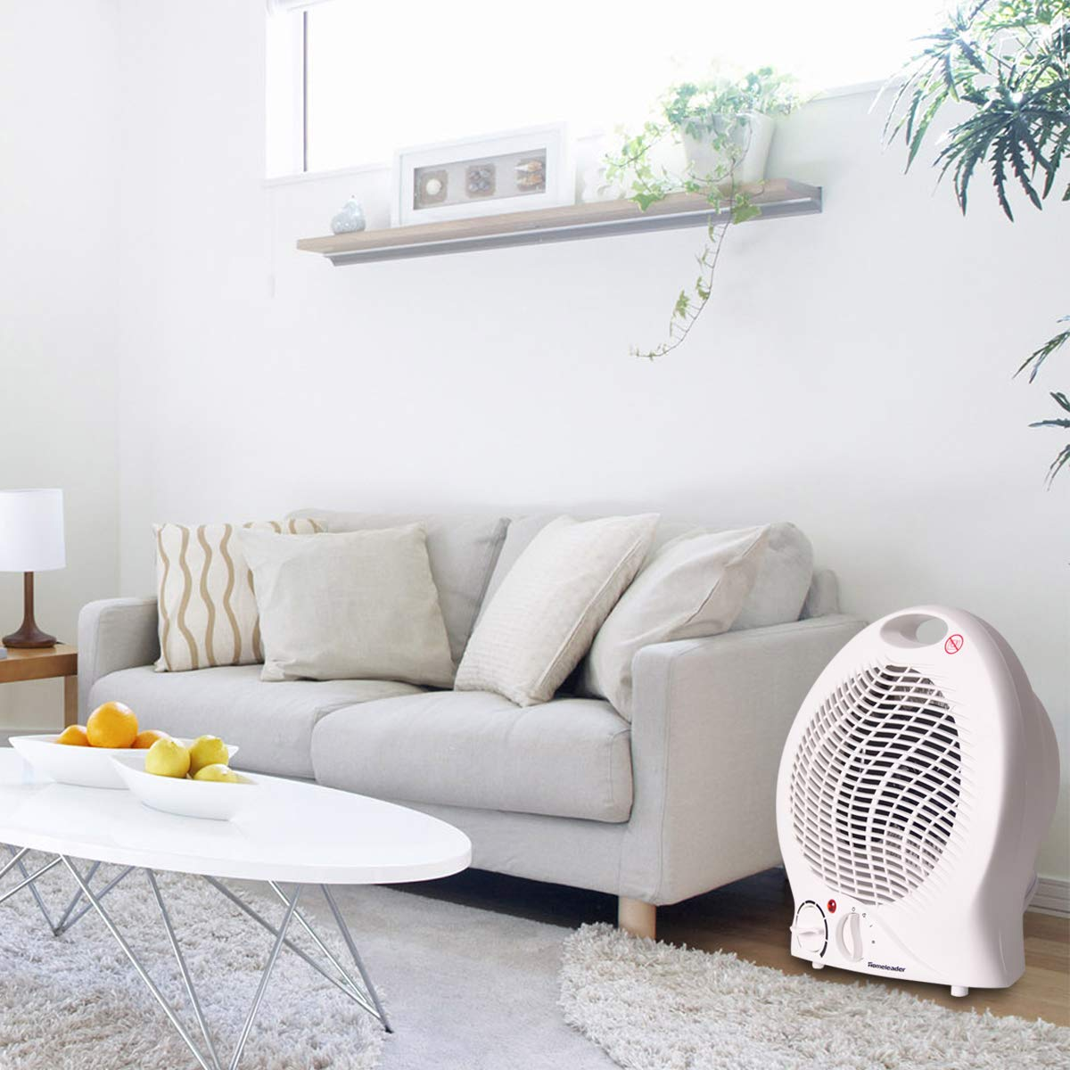 750W//1500W NSB-200C3B Portable Electric Heater with Adjustable Thermoststs Homeleader Ceramic Space Heater for Home and Office