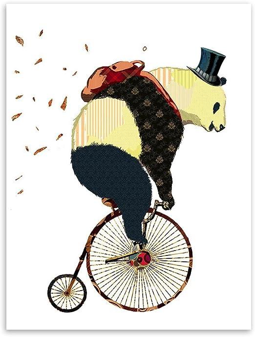 raybre Art Panda gigante perchero sombrero bolsa de transporte bicicleta D & # 39; equitación arte moderno