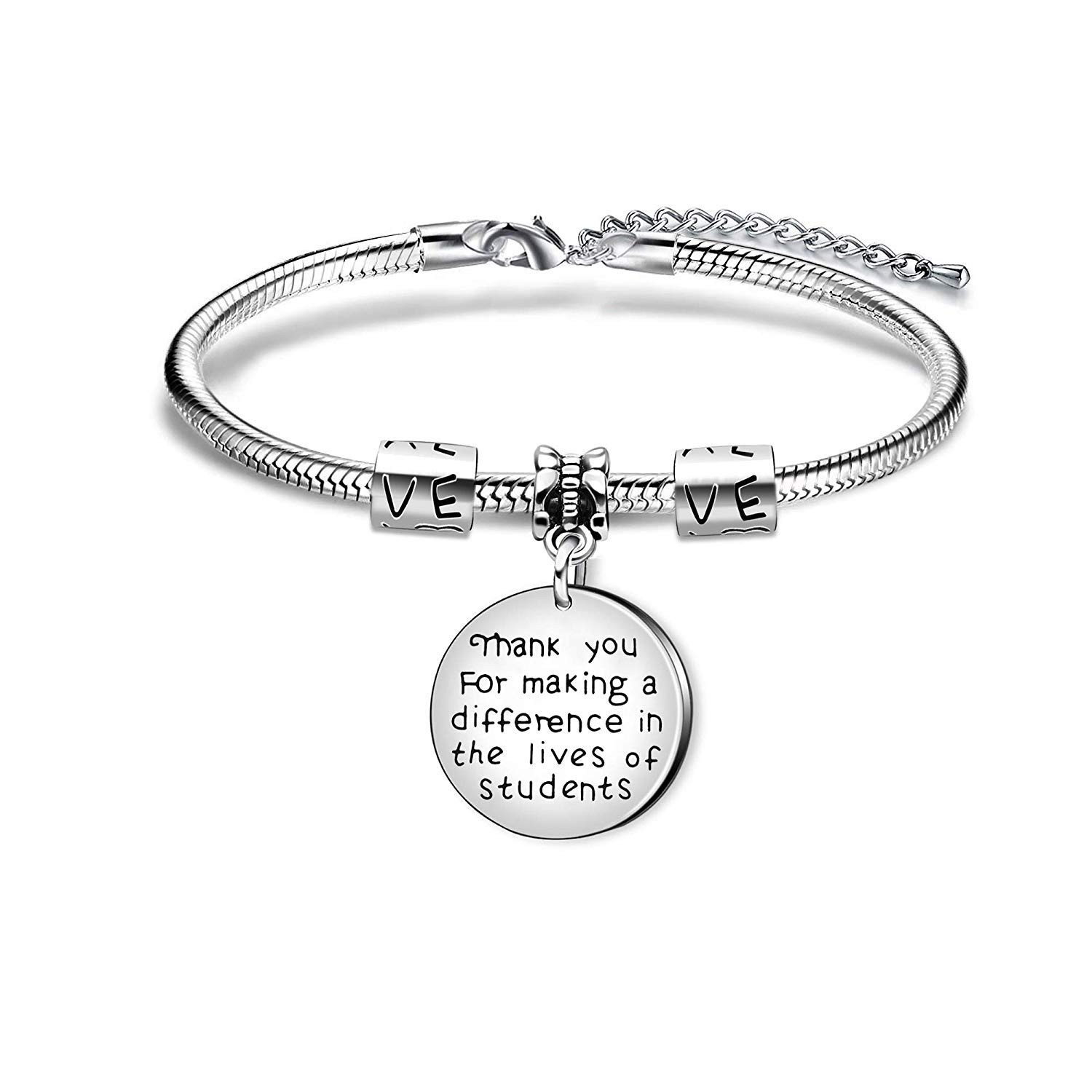 GTHYUUI Bangle Bracelets Student Graduation Gifts from Teacher Thank You for Making a Difference in The Lives of Students