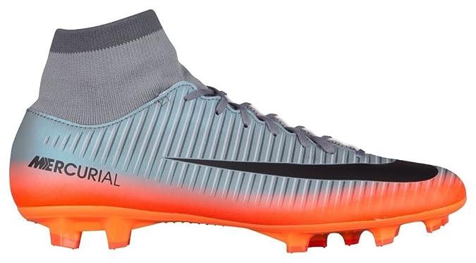 d2a1e56b98 Nike Mercurial Victory VI FG Crampons de Football, Gris/Orange, 10.5:  Amazon.fr: Sports et Loisirs