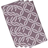 E by design N4G768PU14 Tidepool Geometric Print Napkin (Set of 4), 19'' x 19'', Lavender