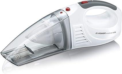 Severin HV 7144, Aspiradora Manual para sólidos y líquidos, batería de Iones de Litio de 7.4 V, Incluye Cable 12V para Encendedor de Coche y 3 Accesorios, S´Power Home & Car Li
