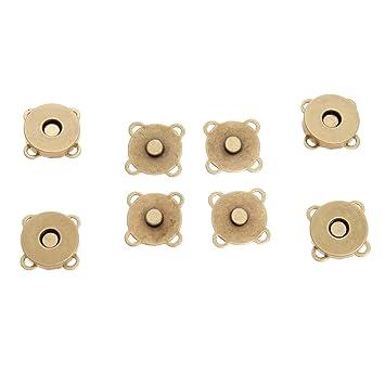 10 piezas magnético Monedero Quincunce Snap para cierres ...