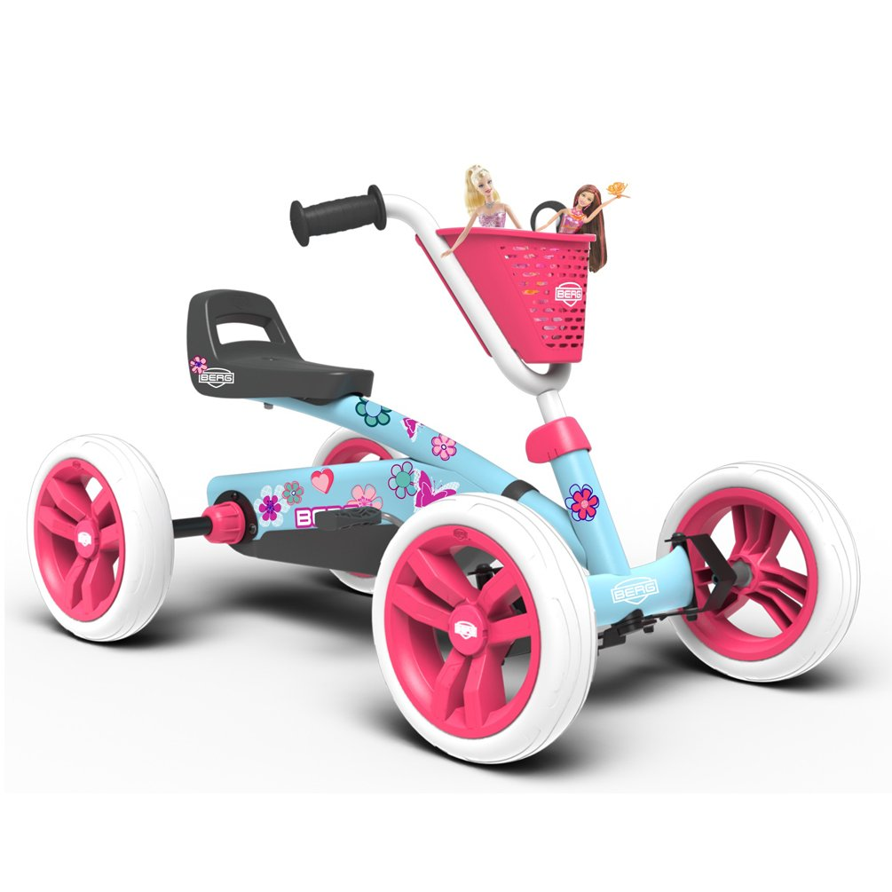 BERG Toys Girls Buzzy Bloom Kids Pedal Go Kart for 2 to 5 Year Olds