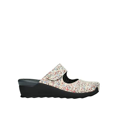 0647b1f9263 Wolky Comfort Clogs up - 40912 offwhite Multi Suede - 39