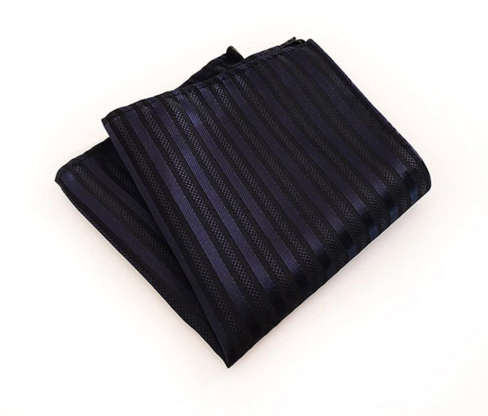 MOHSLEE Mens Luxury Striped Suit Tie Handky Silk Suit Necktie Pocket Square Set