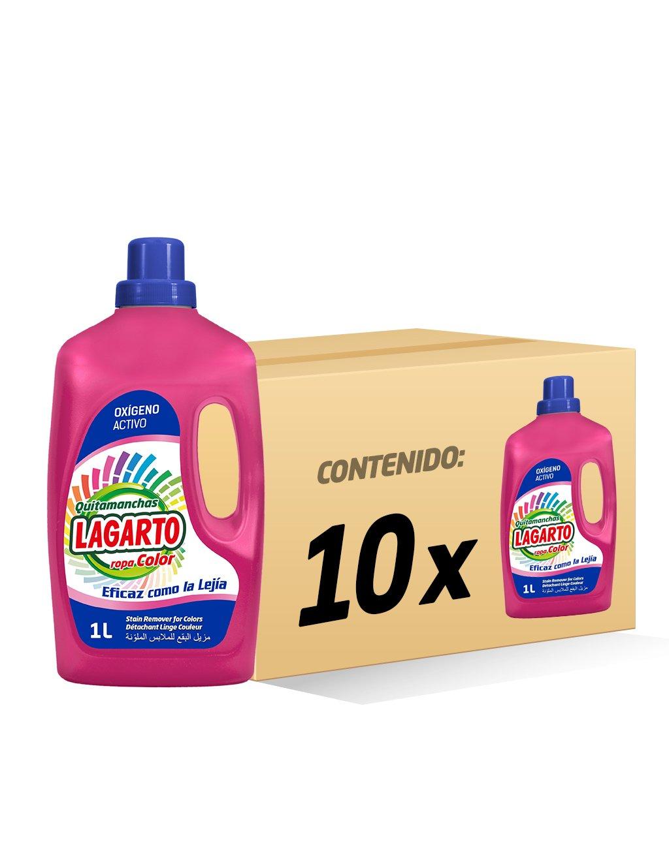 Lagarto Quitamanchas Liquido Ropa Color - Paquete de 10 x 1000 ml - Total: 10000 ml: Amazon.es: Salud y cuidado personal