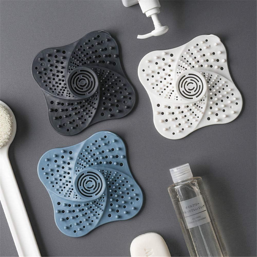 Accesorios Azul para ba/ño Cocina DIYARTS Tap/ón para el Pelo con Ventosa y Filtro de Fregadero Antideslizante