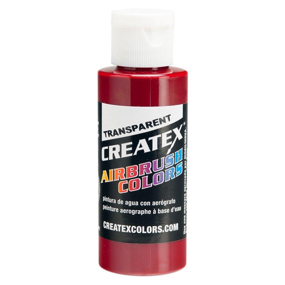 Airbrush Transparent Paint Capacity: 4 Oz, Color: Deep Red CREATEX COLORS