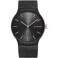 New Mens Watches Stainless Steel Black Band Quartz Watch Top Brand CURREN Male Wristwatch