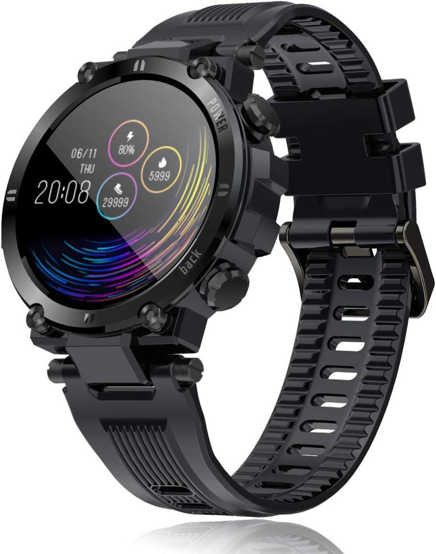Reloj Inteligente Hombre Smartwatch IP68 Impermeable Rastreador Actividad Reloj Deportivo Pantalla Completa Táctil Fitness Compatible con Android iOS