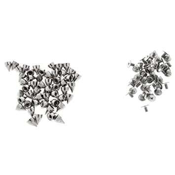 100pcs DIY Stern Ziernieten Nieten Schmucknieten Leder Nieten für DIY Taschen,