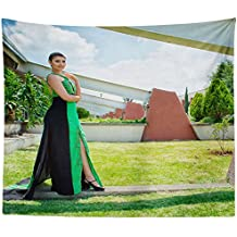 Westlake Art Wall Hanging Tapestry - Green Dress - Photography Home Decor Living Room - 51x60in