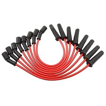 carbole Bujía Cables sierra yukon Tahoe silicona alto rendimiento 4.8l 5.3L 6 L): Amazon.es: Coche y moto