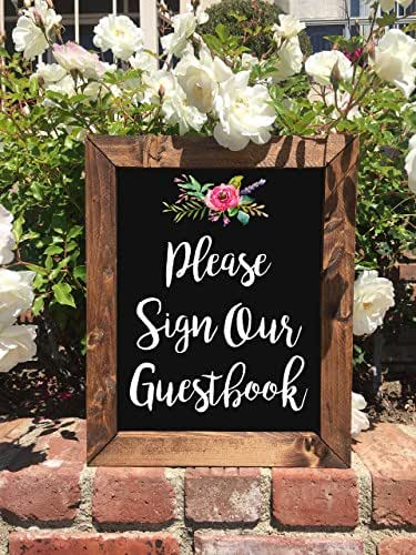Amazon.com: Please Sign Our Guestbook - Rustic Wedding Sign: Handmade