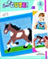 Colorbok Q2342A Horse Learn To Stitch Needlepoint Kit, 6-Inch by 6-Inch, Blue Frame