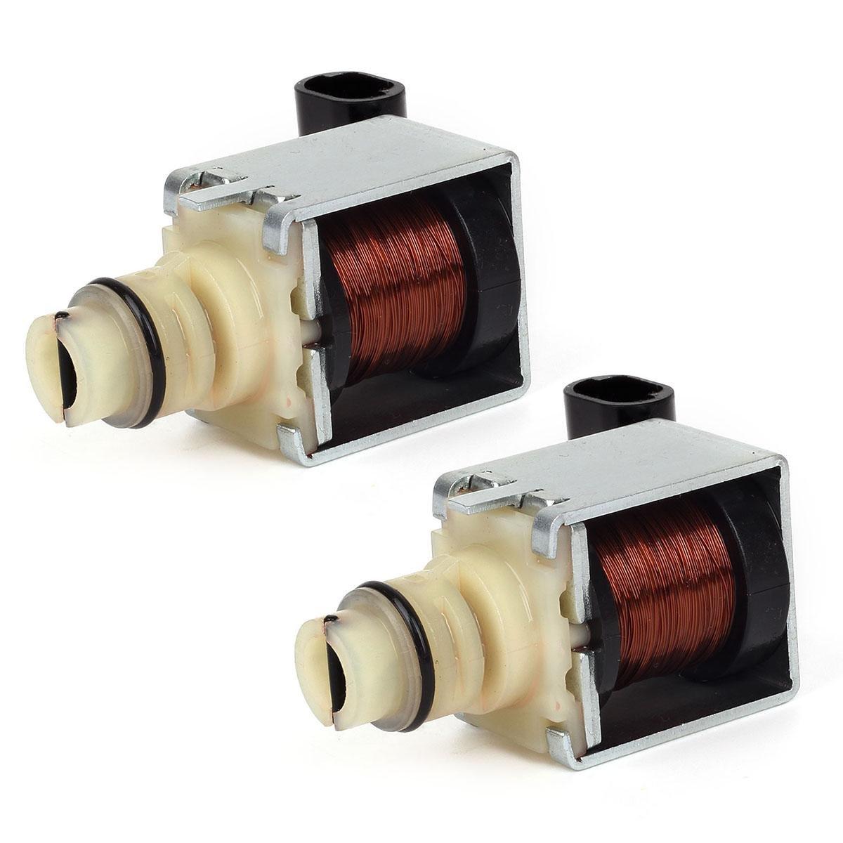 Partsam 2pcs 4t65e Transmission 1 2 3 4 Shift Pontiac Aztek Tcc Wiring Diagram Solenoids Set Compatible With Gm Chevrolet Impala 97 Up Automotive