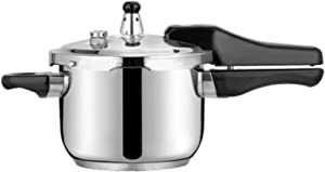 Pressure Cooker Stove Top Pressure Cooker Stainless Steel Cookware Induction Compatible Manual Slow Cooker Rice Cooker Steamer Saute Suitable for All Families (Color : Silver, Size : 20cm)