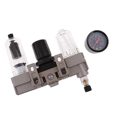 Baoblaze 1/4 '' Presión de Compresor de Aerógrafo Filtro de Separador de Agua de Aceite Regulador de Presión de Aire de 150 PSI
