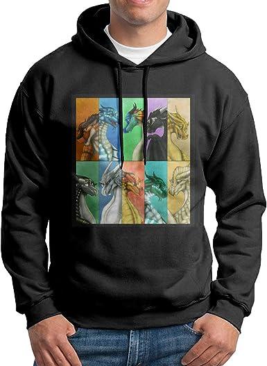 Dragonets Teen Hooded Sweate Sweatshirt White Guiping Wings of Fire
