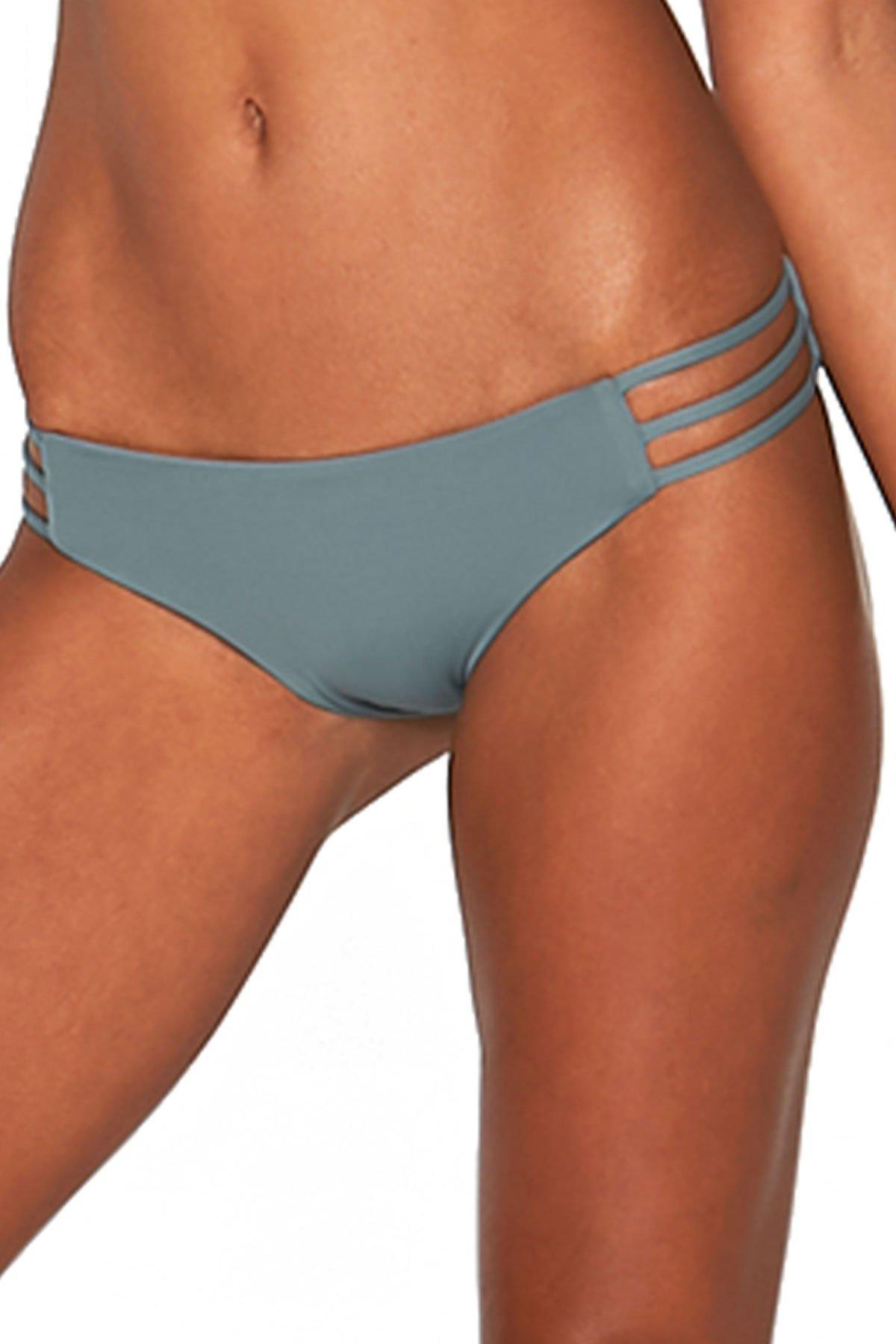 LSpace Women's LSolids Tab Side Hipster Bikini Bottom Slated Glass M