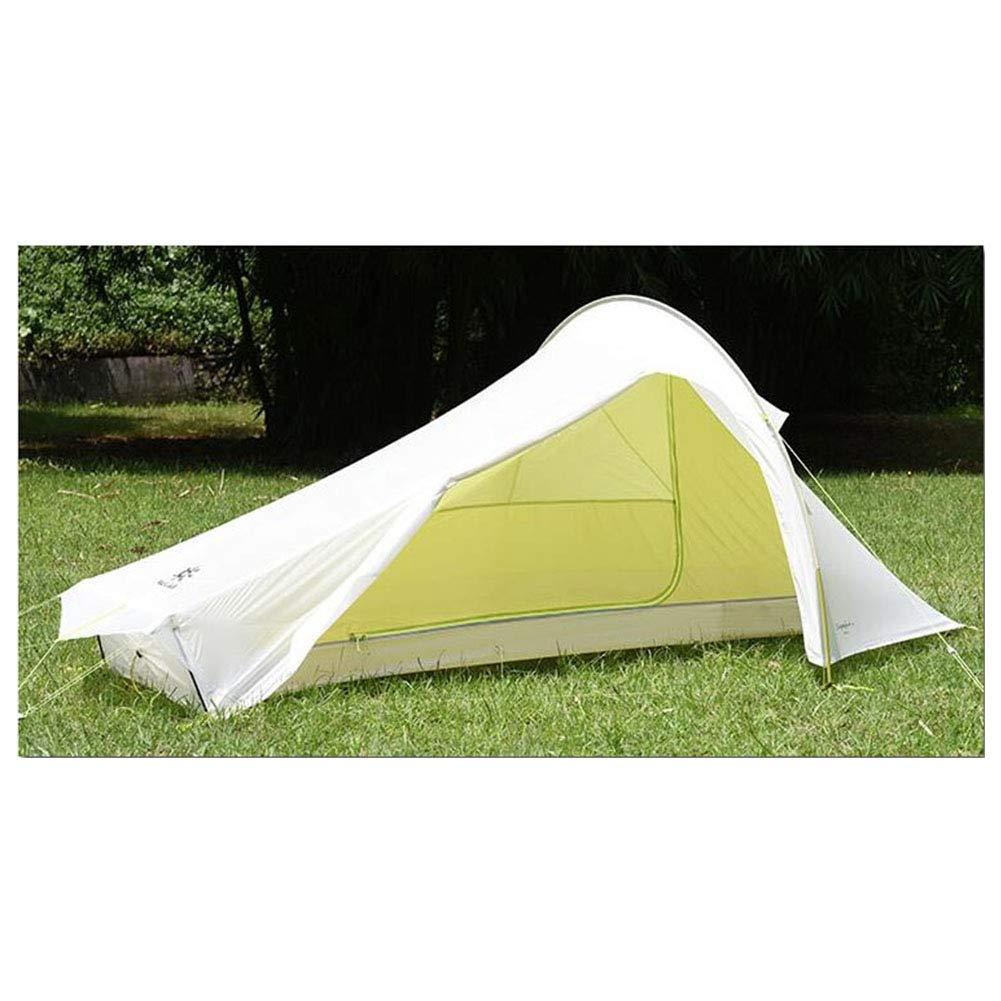 Yuhong Zelt, Außengewicht Tragbare Tzelte 1 Person Doppel-Ebenen-Wasserwiderstands-Camping Zeltplatz-Tent