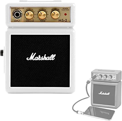 Amplificador Guitarra Marshall Mini 2w Blanco a Pilas: Amazon.es ...