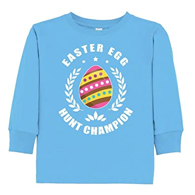 493f407dfab3 Amazon.com: inktastic - Easter Egg Hunt Champion Toddler Long Sleeve T-Shirt  2e76c: Clothing