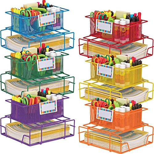Really Good Stuff Supply Caddy with Label Holders - Set Of 6 by Really Good Stuff