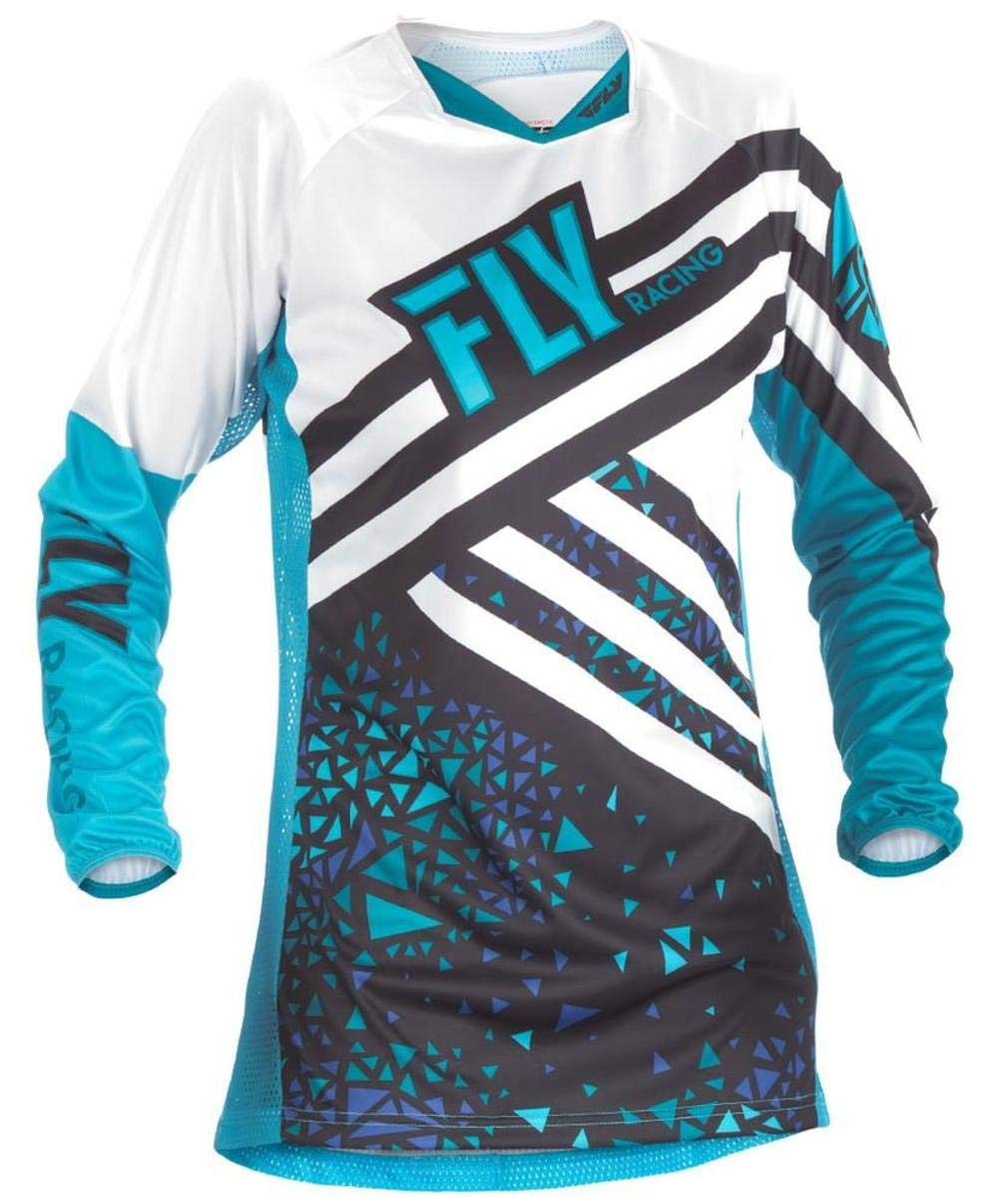 Fly Racing Men's Kinetic Jersey (Neon Pink/Hi-Vis, Youth Large) 371-629YL