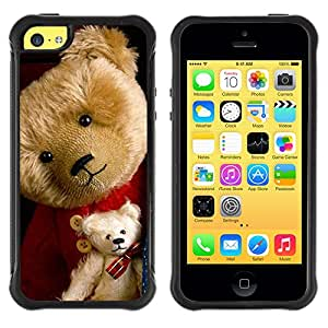 Lady Case@ Big & Small Teddy Bear Rugged Hybrid Armor Slim Protection Case Cover Shell For iphone 5C CASE Cover ,iphone 5C case,iphone5C cover ,Cases for iphone 5C