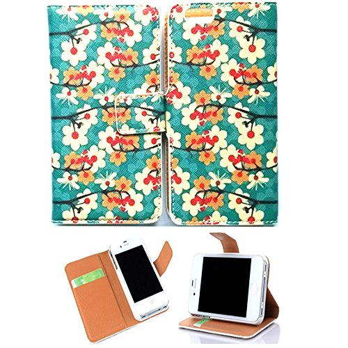 """Iphone 6 Case,Kaseberry iPhone 6 4.7""""case-iphone 6 wallet leather case, Luxury Flower Fashion PU Leather Magnet Wallet Creadit Card Holder Flip Case Cover for iPhone 6"""