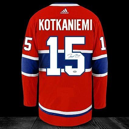 2f5ddb66b8f Jesperi Kotkaniemi Signed Jersey - Adidas Pro - Autographed NHL Jerseys