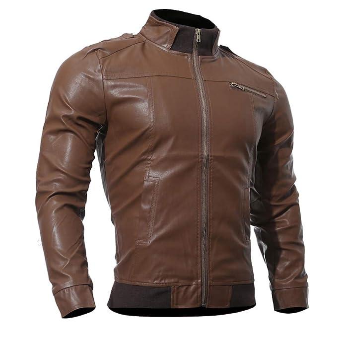 Chaqueta para Hombre, Beikoard Otoño Invierno Casual Moto Chaqueta De Cuero De Imitación Outwear Tops Chaqueta con Cremallera Abrigo para Hombre: Amazon.es: ...