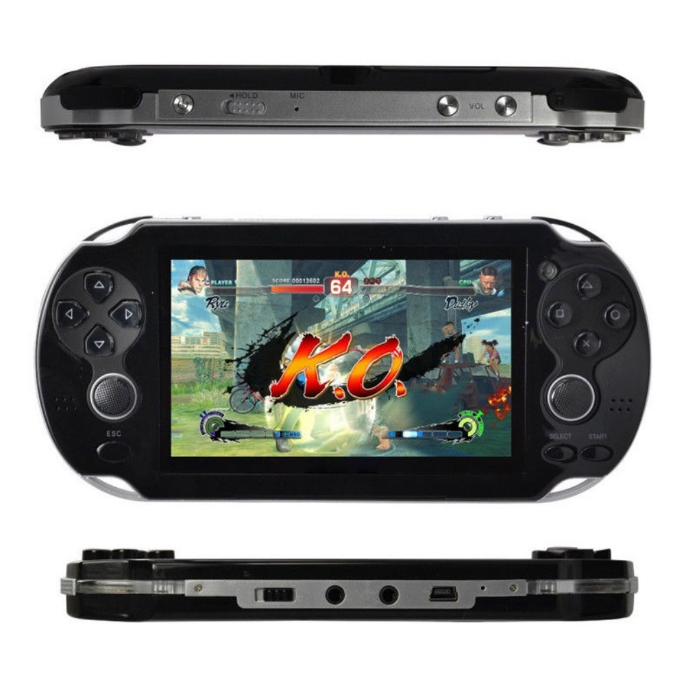 Wenasi 4.3inch 8GB Handheld Game Console with Dual Joystick,mp5 mp3 mp4 Player Camera FM TV-Out (Black) by Wenasi (Image #1)