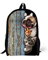 Cool 3D animal Squirrel dog Children 16-inch School Book Bag Printing Backpacks For Kids,Boys or Girls